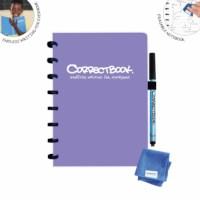 Uitwisbaar notitieboek | Correctbook | Petunia purple | A5 | Gelinieerd