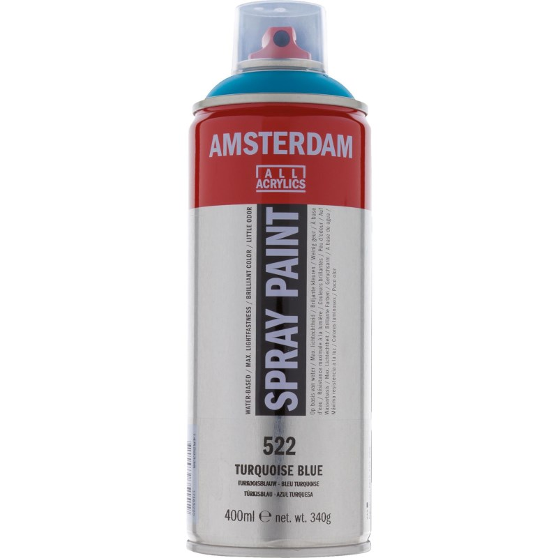 Acrylverf Amsterdam 522 | Spray Paint 400 ml | Turquoiseblauw