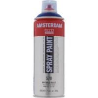 Acrylverf Amsterdam 570   Spray Paint 400 ml   Phtaloblauw