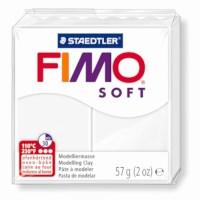 Boetseerklei | Fimo soft | Wit | Blok 56 gram