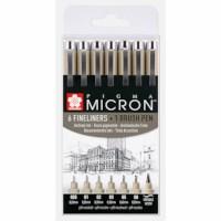 Fineliner   Sakura   Pigma micron   Zwart   7 stuks