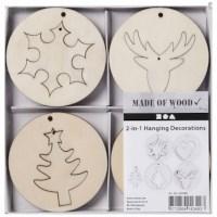 Kerst decoraties | Triplex | 8 stuks