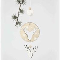 Kerst decoraties   Triplex   8 stuks