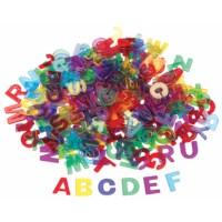 Letters | Kunststof | Transparant | Assorti | 260 stuks