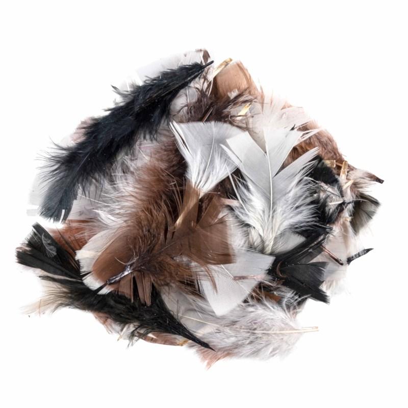 Veertjes | Natural bont | 5-10 cm | 750 stuks