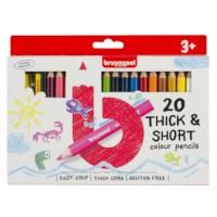Kleurpotloden | Bruynzeel Kids kort en dik | 20 stuks