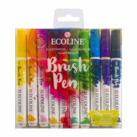 Ecoline brush pen | Talens | Illustrator | 10 stuks