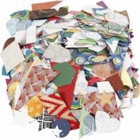 Bedrukt papier | Assorti | Geschept | 25-130 mm | 500 gram