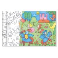 Kleurplaat op rol | Thema prinsessen en ridders | 5 meter