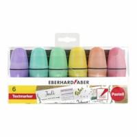 Markeerstiften | Eberhard Faber | Pastel | 6 Stuks