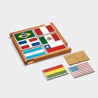 Vlaggenpuzzel Noord-Amerika en Zuid-Amerika