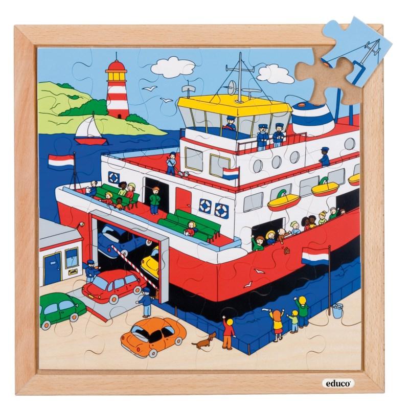 Verkeerspuzzels | Veerboot | 36 stukjes | Educo