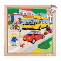 Verkeerspuzzels | De weg | 49 stukjes | Educo