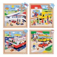 Verkeerspuzzels | Set à 4 | Educo