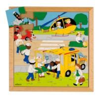 Actie puzzels | Ongeval | 16 stukjes | Educo