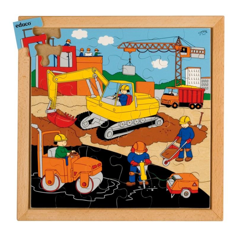 Actie puzzels | Wegwerkzaamheden | 36 stukjes | Educo