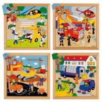 Actie puzzels | Set à 4 | Educo