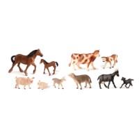 Dieren met hun baby's | Boerderijdieren | Set à 10 stuks
