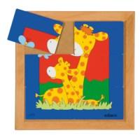 Dierenpuzzel 'Moeder en kind' | Giraffe | 6 stukjes | Educo