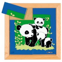 Dierenpuzzel 'Moeder en kind' | Panda | 8 stukjes | Educo