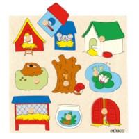 Surprise inlegpuzzels | Dierenhuisjes | Educo