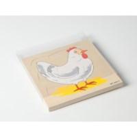 Schuifdeksels puzzels | 24 x 24 cm