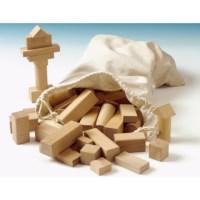 Bouwblokken naturel | Hout | 100 stuks