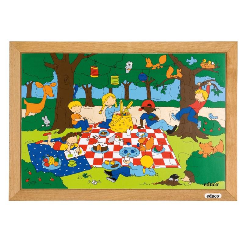 Puzzelserie Kinderen | Picknick | Educo