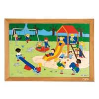 Puzzelserie Kinderen | Speelplaats | Educo