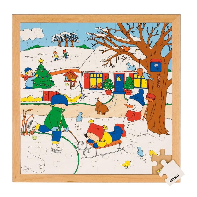 Seizoenenpuzzels 2 | Winter | 64 stukjes | Educo