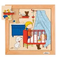 Babypuzzel | Slapen | 12 stukjes | Educo