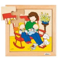 Babypuzzel | Voeden | 9 stukjes | Educo