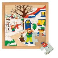 Seizoenenpuzzel 1 | Winter | 16 stukjes | Educo
