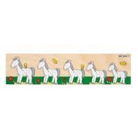 Inlegpuzzels van groot naar klein | Paard | Educo