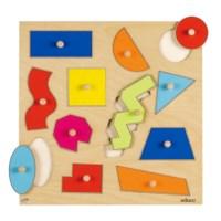 Inlegpuzzels | Geometrische vormen | 12 stukjes | Educo