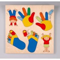 Handen en voeten inlegpuzzel | Educo