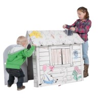 Bouwpakket karton | Speelhuis | Hoogte 72 cm