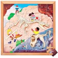 Puzzels dino | Dino opgraving | 64 stukjes | Educo