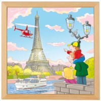 Puzzelserie wereldsteden | Parijs | Educo