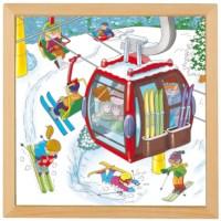 Puzzelserie vakantie | Wintersport | Educo
