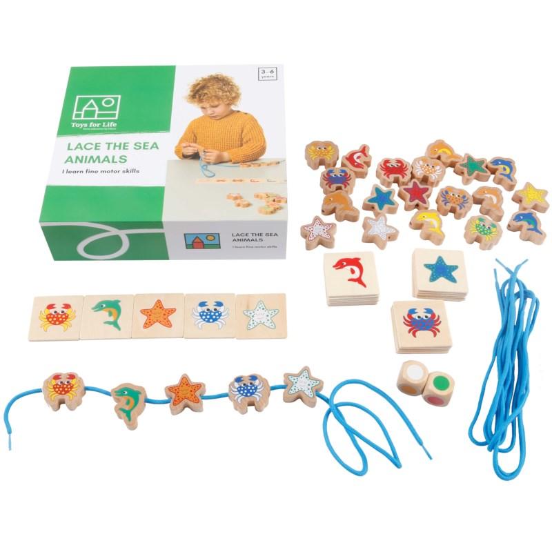 Toys for life   Zeedieren rijgen
