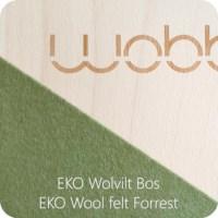 Wobbel | Blank met EKO vilt | Kleur bos (groen)