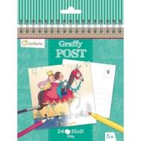 Ansichtkaarten | Kleurboek | Prinsen en Prinsessen | 15,5 x 15 cm | 24 stuks