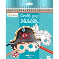 Maskers | Dieren | Karton | 21 x 20 cm | 24 stuks
