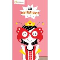Uitnodigingskaarten | Roze | 12 stuks
