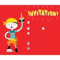 Uitnodigingskaarten | Piraten | 12 stuks