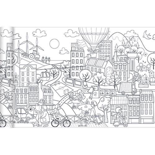 kleurplaat stad rol 35 x 500 cm kopen heutink voor