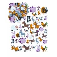 Foam stickers | Boerderijdieren | 96 stuks