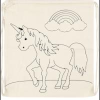 Rugtas | Katoen | Eenhoorn | 41 x 37 cm