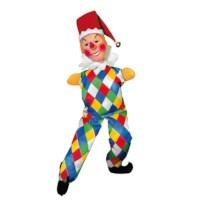 Poppenkastpop stof   Jan Klaassen met benen